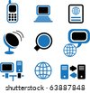 Communication Vector Signs - stock photo