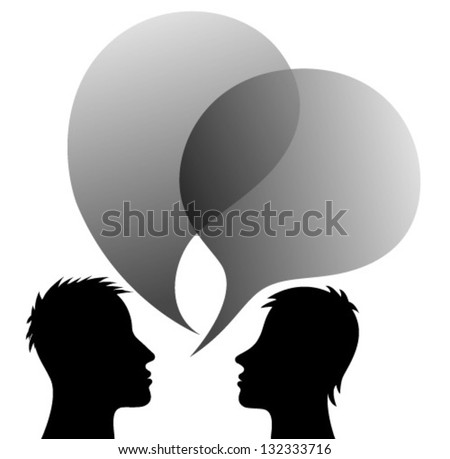 communication with speech bubbles - stock vector