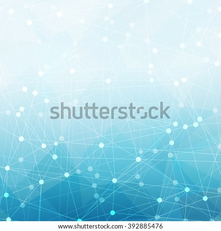 Communications abstract blue background. Good for financial annual cover design, brochures, booklets etc. - stock vector