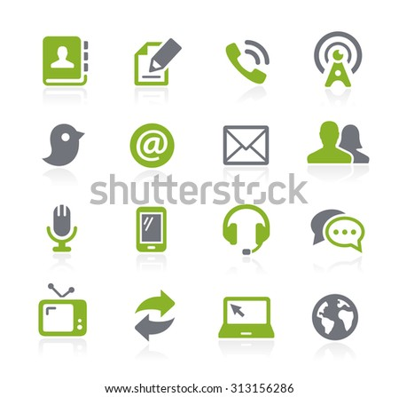 Communications Icons // Natura Series - stock vector