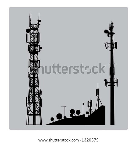 Communicatios Mast - stock vector