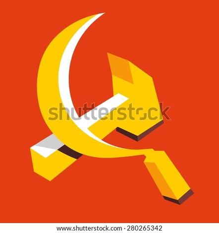 communism ideology. vector illustration - stock vector