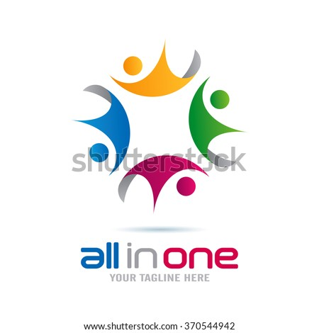 Community All In One Logo Icon Elements Template - stock vector