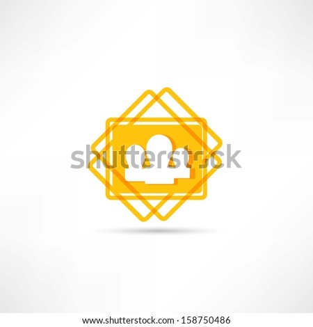 community icon - stock vector