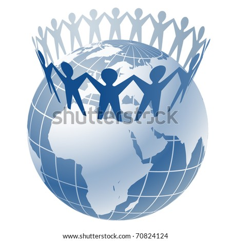 Community of people - stock vector