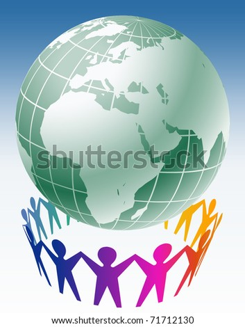 Community of people joined around the globe