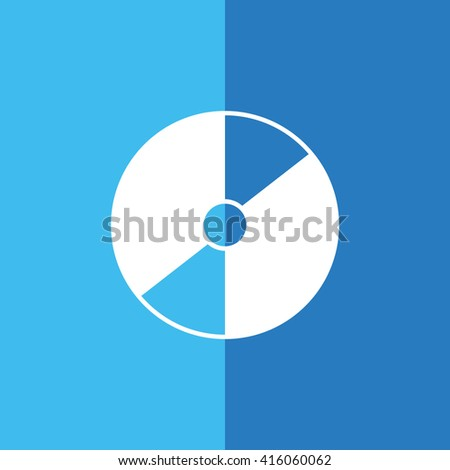 Compact disc / CD / DVD icon on blue background vector illustration - stock vector