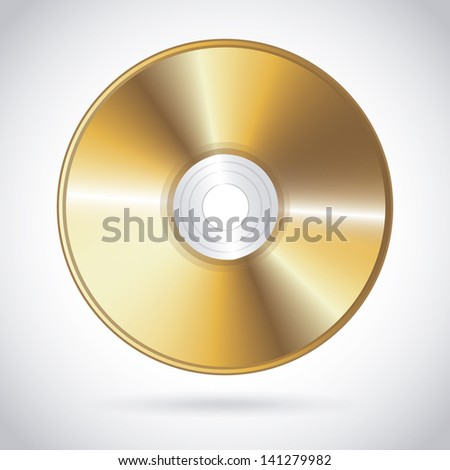 compact disc design over gray background vector illustration - stock vector