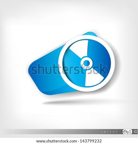 Compact disk web icon - stock vector