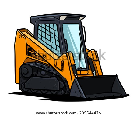 Compact track loader - stock vector