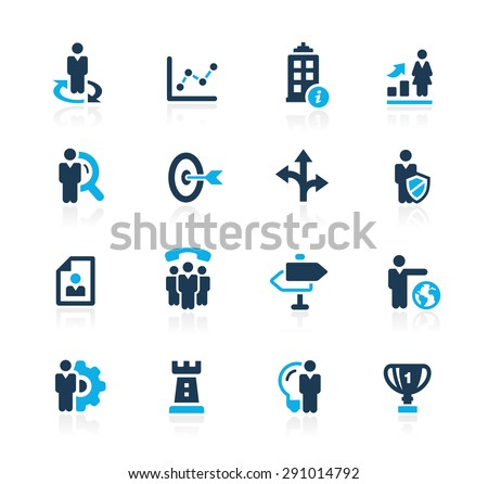 Company and Business Strategies // Azure Series - stock vector