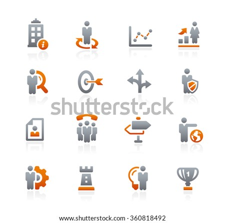 Company and Business Strategies // Graphite Series - stock vector