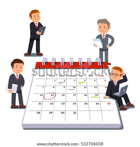 team planning company business team planning scheduling operations stock vector