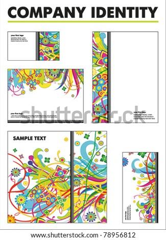 Company identity vector template - business card folder envelope - stock vector