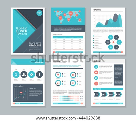 Company profile annual report layout template stock vector hd company profile and annual report layout template with infographics elements and vector editable concept cheaphphosting Image collections