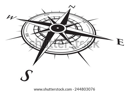 compass background - stock vector