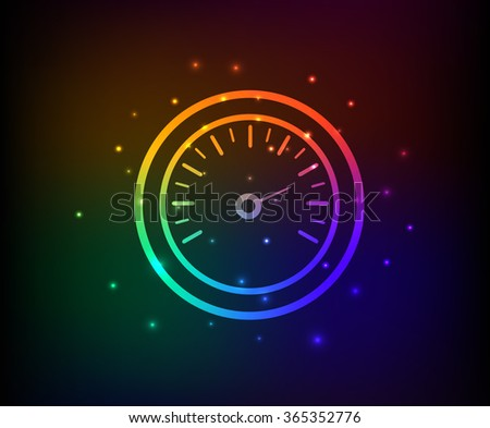 Compass design,rainbow concept,clean vector