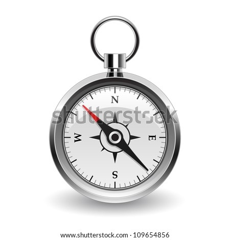 compass icon - stock vector