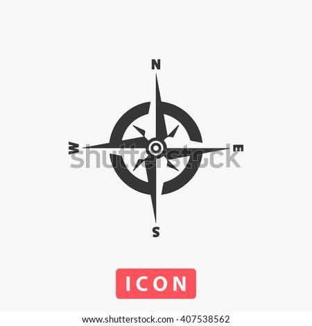 compass Icon.  - stock vector