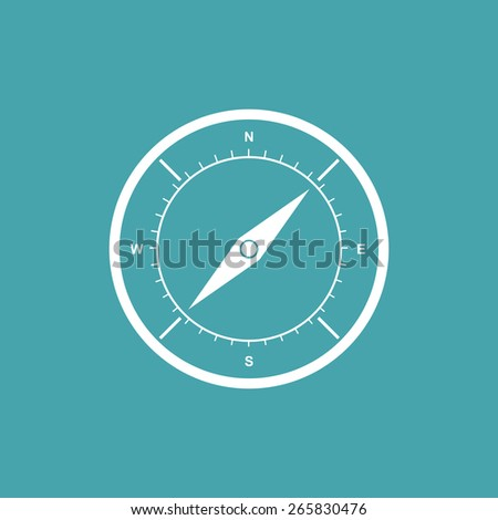 Compass icon - Vector - stock vector