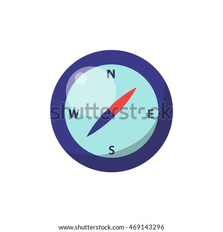 compass icon. vector ilustration