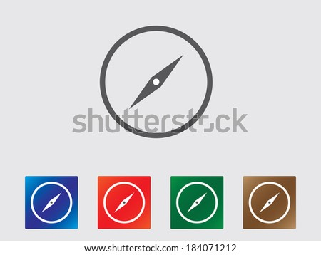 Compass icons illustration - stock vector