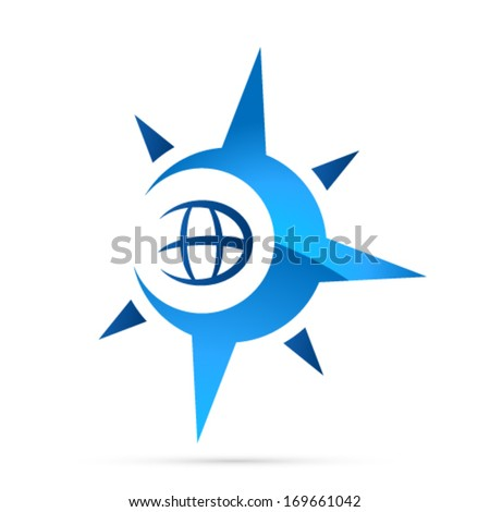 compass, navigation icon - stock vector