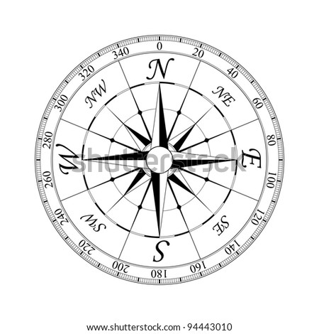 Compass Rose Drawing Compass Rose For Design
