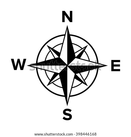 compass rose winds windrose flat icon stock vector 398446168