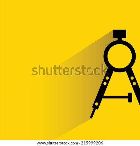 compass tools  - stock vector