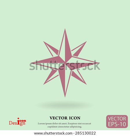 compass vector icon - stock vector