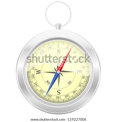 compass vector illustration isolated on white background - stock vector