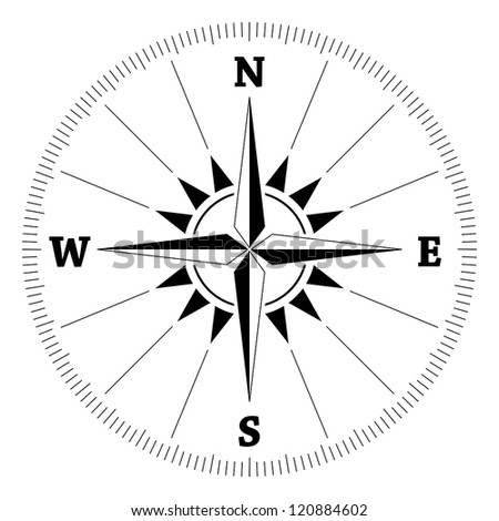 Compass wind rose, vector - stock vector