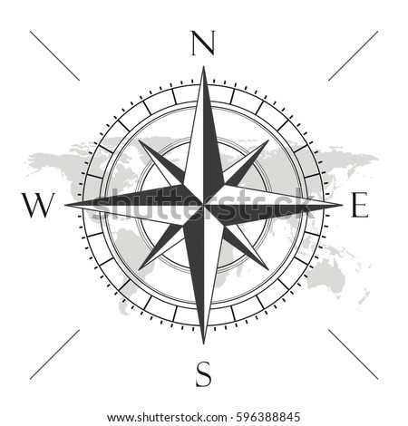 how to draw a compass on a map