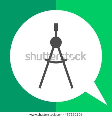 Compasses icon - stock vector
