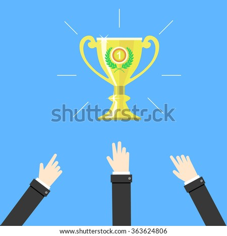 Competition. Business concept vector illustration.  - stock vector