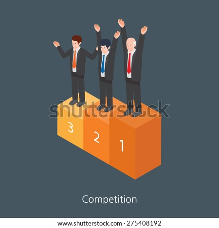 Competition concept design 3d isometric vector illustration - stock vector