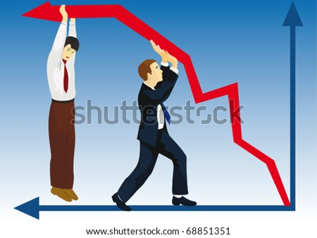 Competition in the financial market-most cruel and mean on light - stock vector