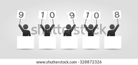 Competition judges icon - stock vector