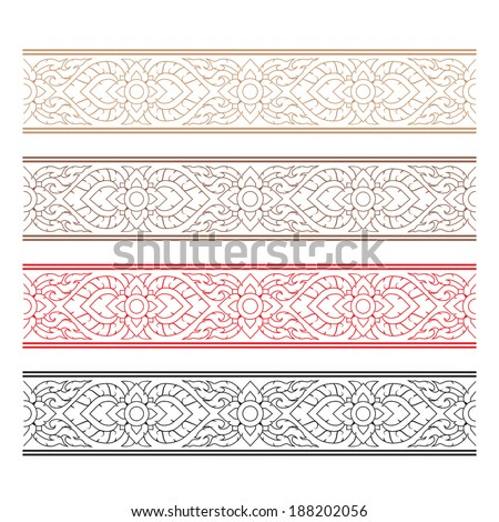 Complementary line thai art illustration. - stock vector