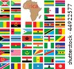 Complete set of african flags - stock photo