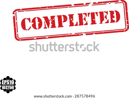 Completed rubber stamp vector. - stock vector