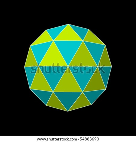 completed rubik's puzzle in RGB - stock vector
