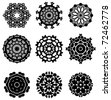 Complex geometrical design elements - stock vector