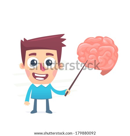 complex mechanism of brain - stock vector