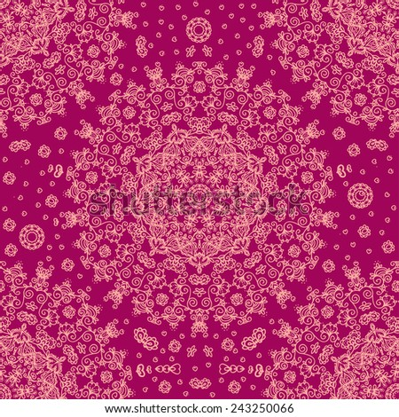 Complex seamless pattern with many details. Vector illustration. - stock vector