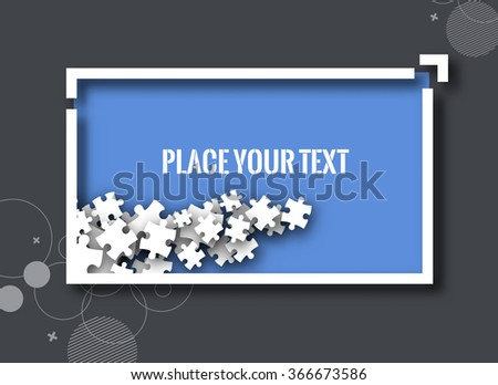 Composite empty banner with places for text and design, eps10 vector background. - stock vector