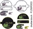 Composition of tags for the olives - stock vector