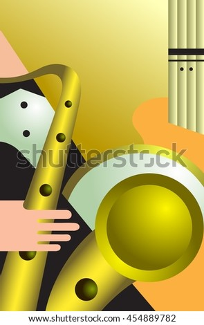 Composition on musical subjects. Vector illustration