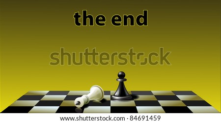 Composition on subjects chess game vector - stock vector